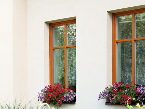 Nová fasáda s dřevěnými okny