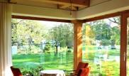 Rohové okno v roubence