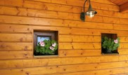 Dřevěný smrkový obklad verandy