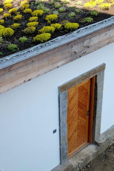 Kůlna se zelenou střechou